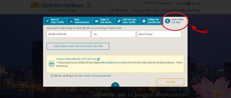 Hướng dẫn tra cứu lịch trình chuyến bay của 3 hãng hàng không nội địa