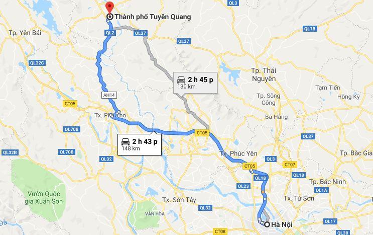 Khoảng cách từ Hà Nội đến Tuyên Quang bao nhiêu km? Di chuyển như thế nào?
