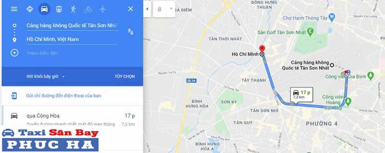 Thời gian từ sân bay về trung tâm thành phố Hồ Chí Minh