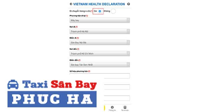 Khai báo y tế qua app Vietnam Health Declaration 2