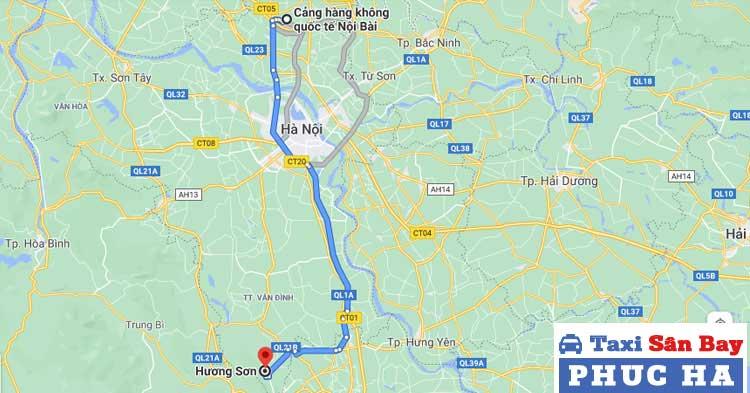 Chùa Hương cách sân bay Nội Bài khoảng 90 km