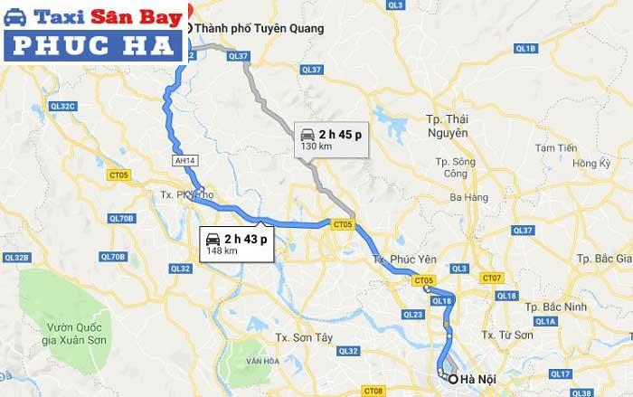 Di chuyển từ Hà Nội đến Tuyên Quang bằng xe máy, xe ô tô riêng