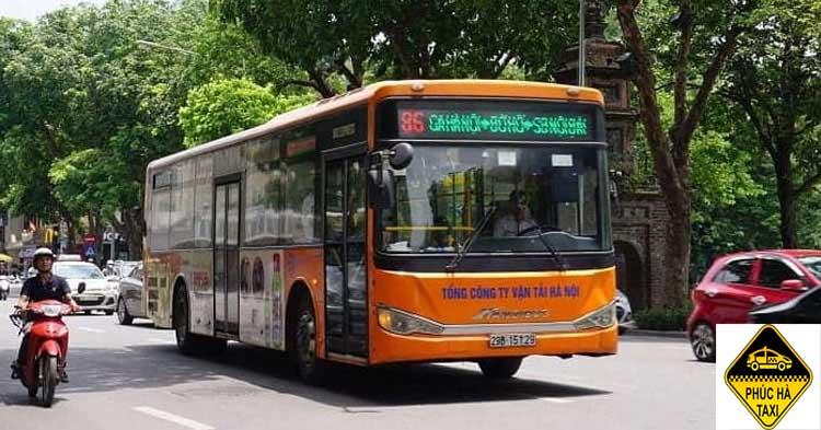 Tuyến xe buýt số 86 đi qua Bờ Hồ