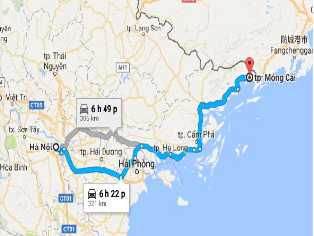 Hướng dẫn đặt xe từ sân bay Nội Bài đi Móng Cái