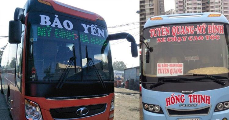 Xe khách Hà Nội – Tuyên Quang