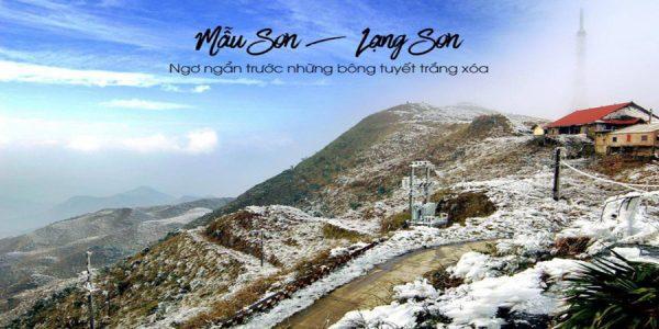 """Kinh nghiệm gọi xe Nội Bài đi đỉnh Mẫu Sơn """"săn"""" tuyết"""